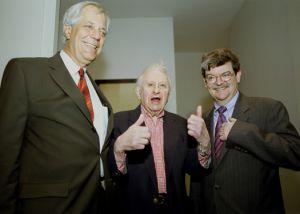 Hank DeZutter, Studs Terkel, and Thom Clark