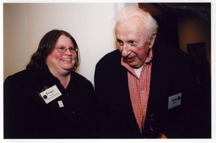 Tracy Baim and Studs Terkel.